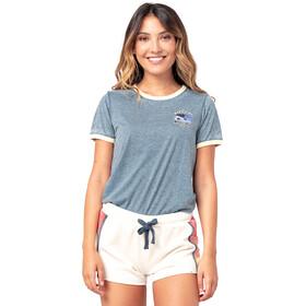 Rip Curl Surf Revival Ringer SS Shirt Women, azul